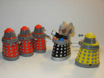 Davros with his Daleks