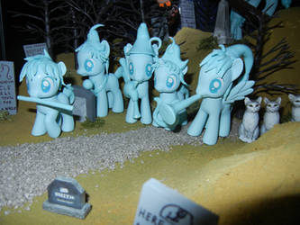 MLP: The Haunted Mansion - Graveyard Band by SilverBand7
