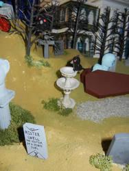 MLP: The Haunted Mansion - Raven on a Birdbath by SilverBand7