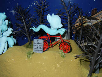 MLP: The Haunted Mansion - Wispy Spirit on a Bike by SilverBand7