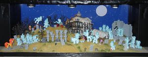 MLP: The Haunted Mansion - Graveyard Scene by SilverBand7