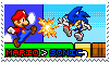 Mario Vs. Sonic Stamp by ThellsStamps