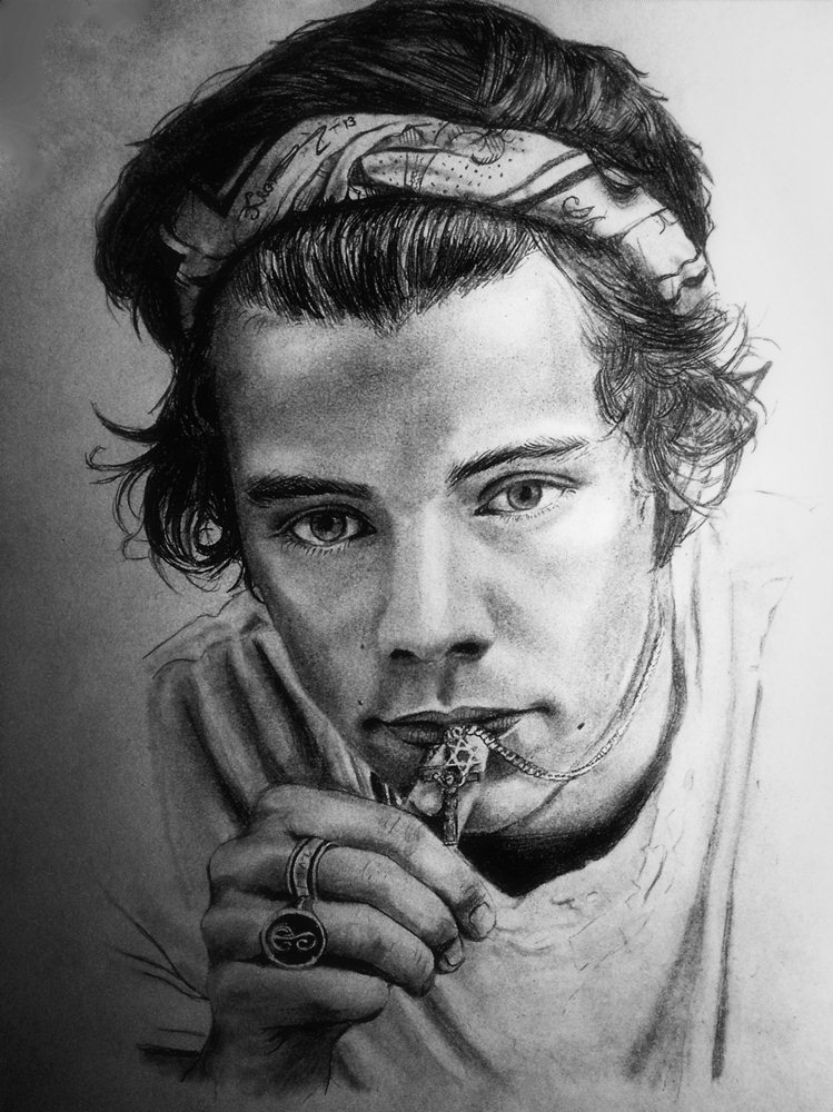 Harry Styles Portrait 3 by KlaraJosefina on DeviantArt