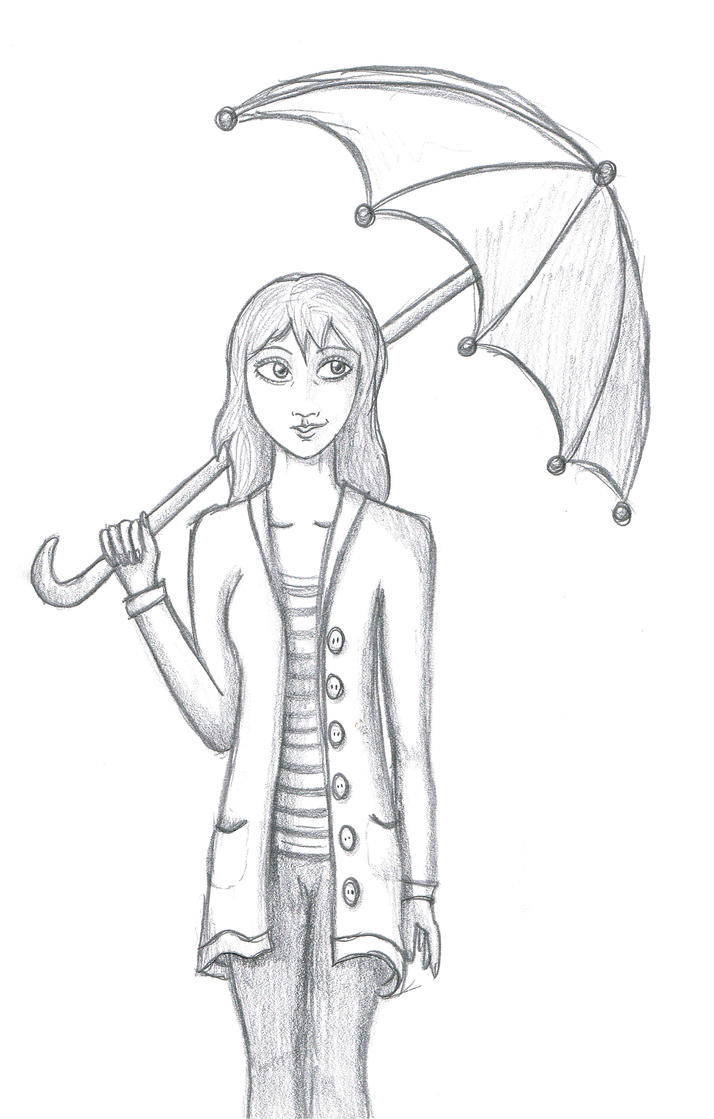 Girl with Umbrella - 8x10 Art Print in 2019 | refrenz ...