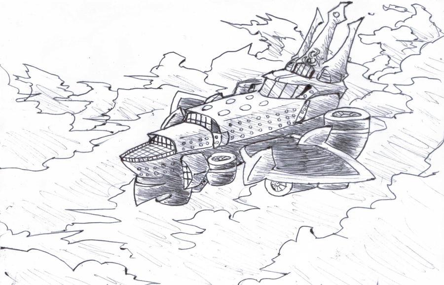 Nacholeon's Airship by enrokone