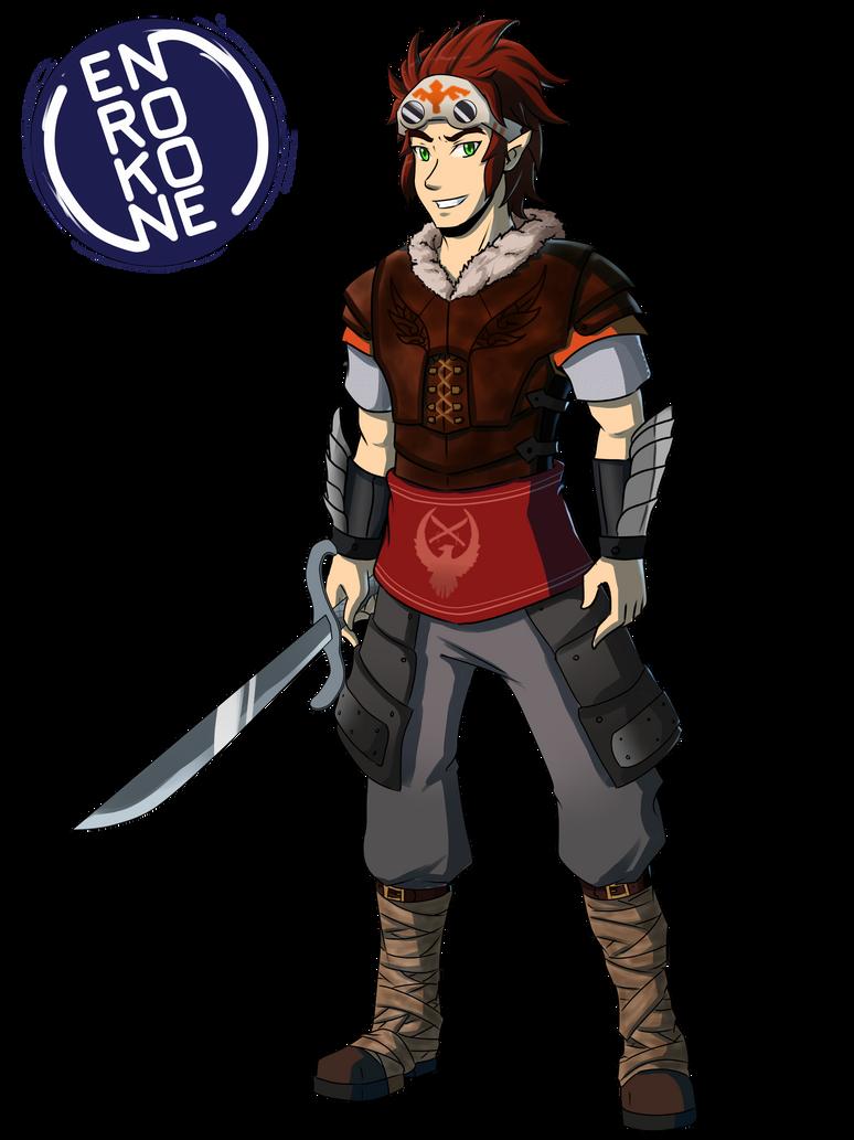Commission:  Akhea  the Skyloftian by enrokone
