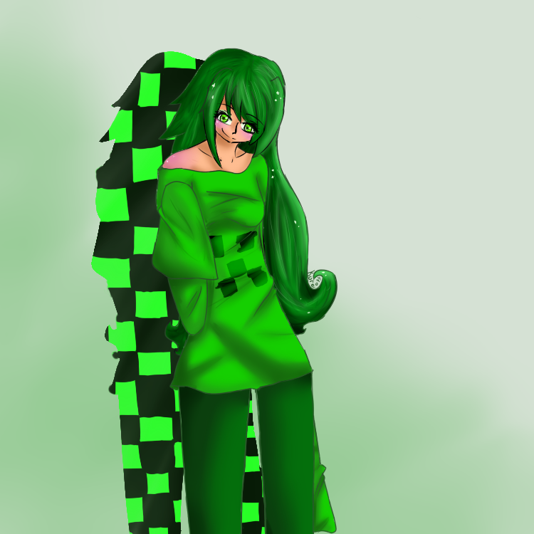 Creeper girl by kureo44 on deviantart - Creeper anime girl ...