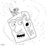 Block Head Escapes From Easter Island by Entropy762