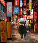Seoul Night Street Painting