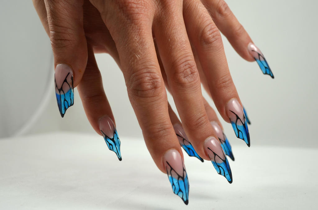 Butterfly Blade nails by Ambima