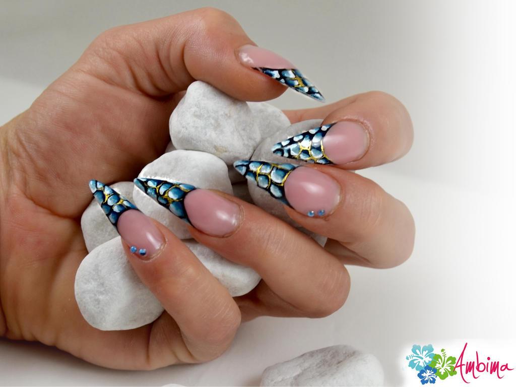Snakeskin Stiletto Nails by Ambima on DeviantArt