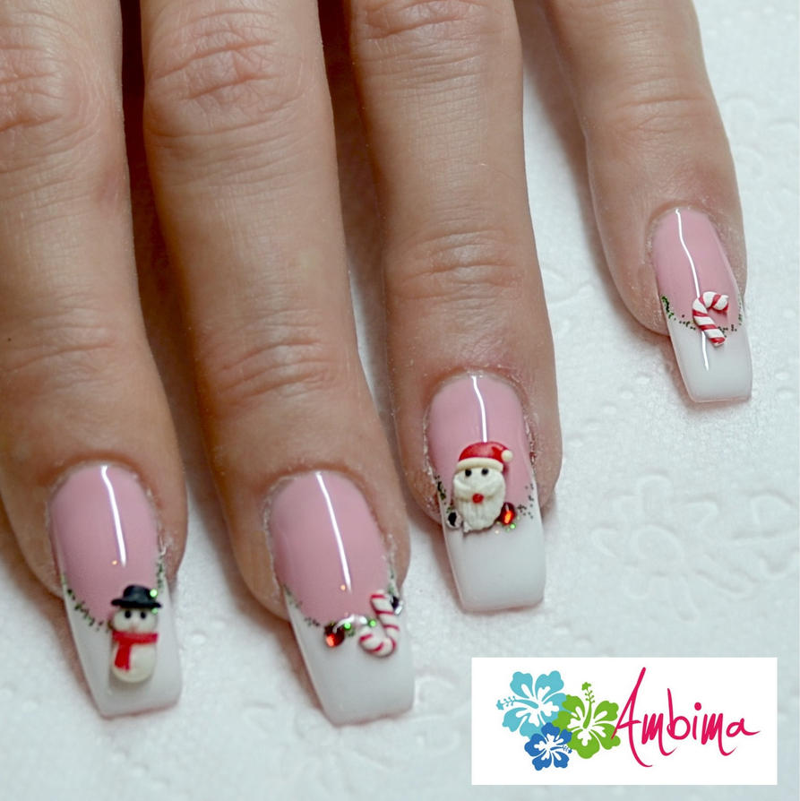 31 Beautiful 3d Christmas Nail Art Ledufa