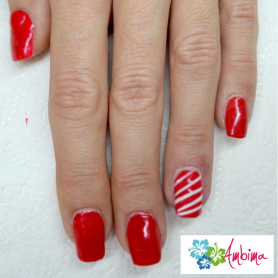 Christmas Nail Art For Short Nails: Short Christmas Nails By Ambima On DeviantArt