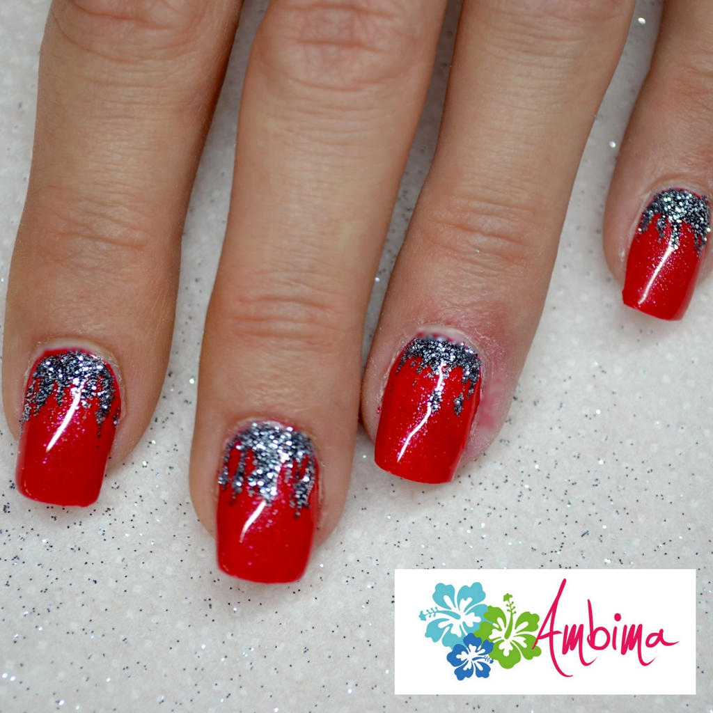 Red Winter Nails By Ambima On Deviantart