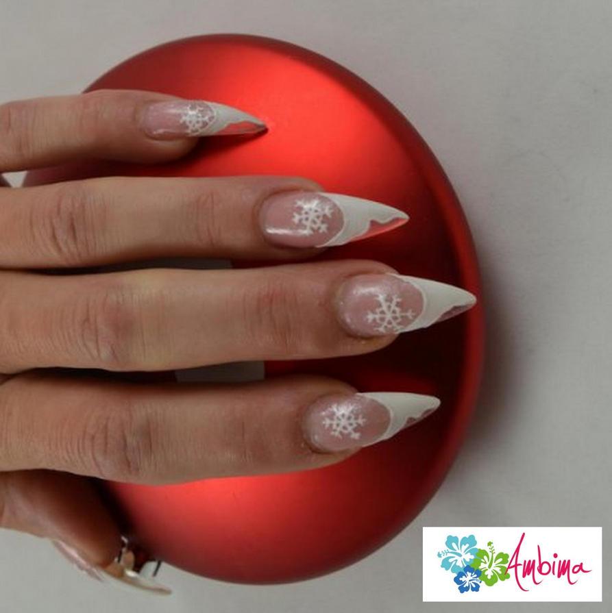 Christmas stiletto nails by Ambima on DeviantArt