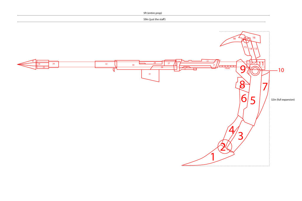 Rwby ruby 39 s scythe blueprint by alexisweckert on deviantart for Where to buy blueprint paper