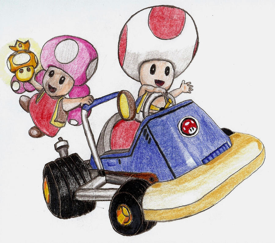 Toad and Toadette Kart by chibi22 on DeviantArt - photo#29