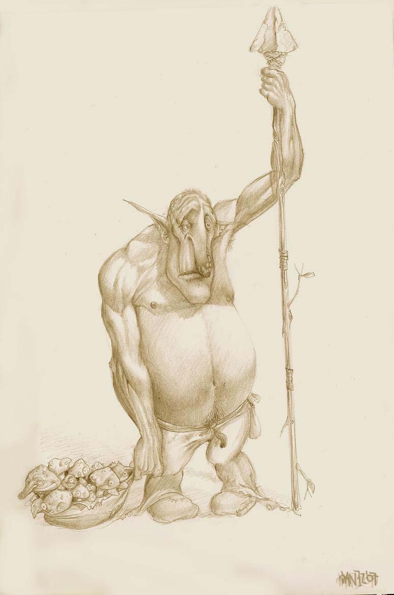Sad Troll With Mushrooms By Danez On Deviantart