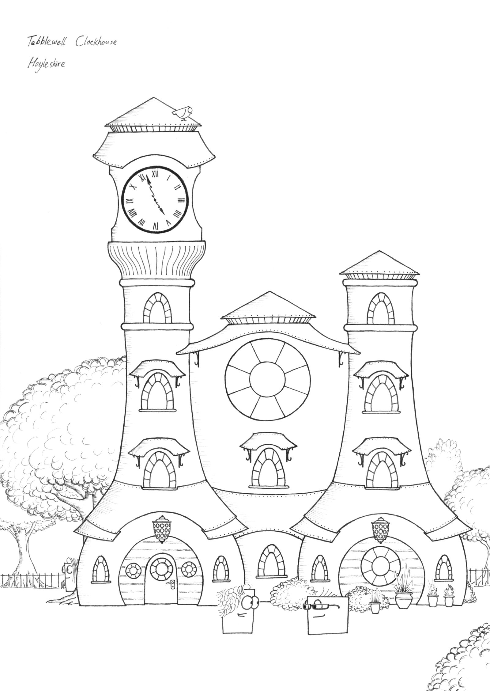 Papertowns Miniatures: Tebblewell Clockhouse