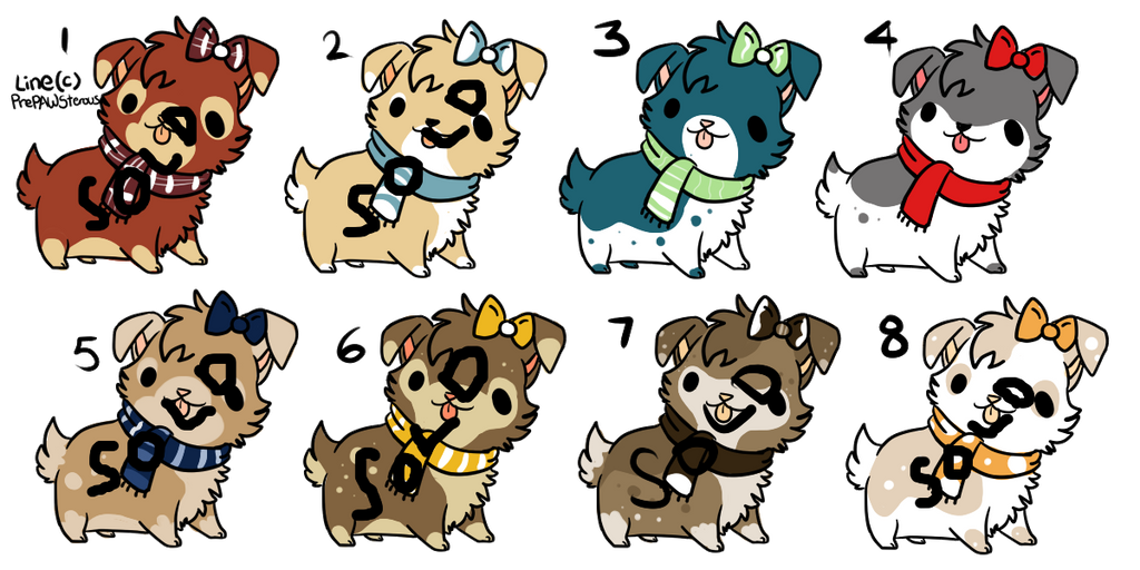 Dog Adoptables by Paroxysmal-Harlequin