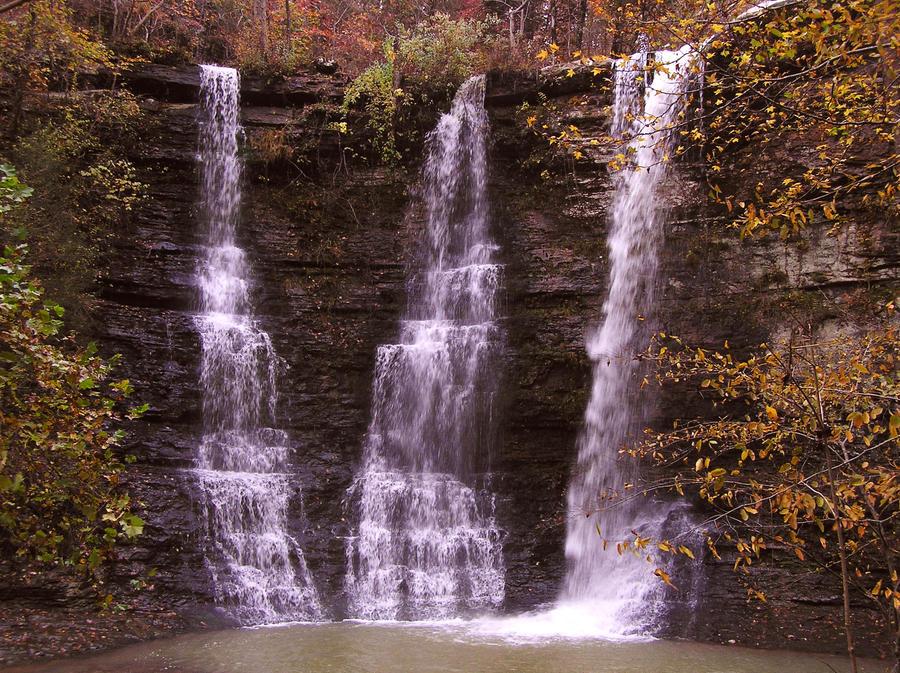 Twin Falls II by bracomadar