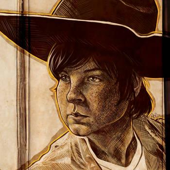 Carl - The Walking Dead (redrawn) by TheElvishDevil