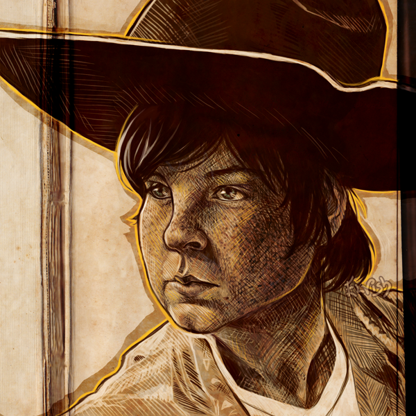Carl - The Walking Dead (redrawn) by TheElvishDevil