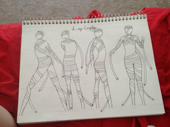 Lucy Cosplay Design Sketch