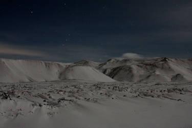 Icelandic Mountains at Night