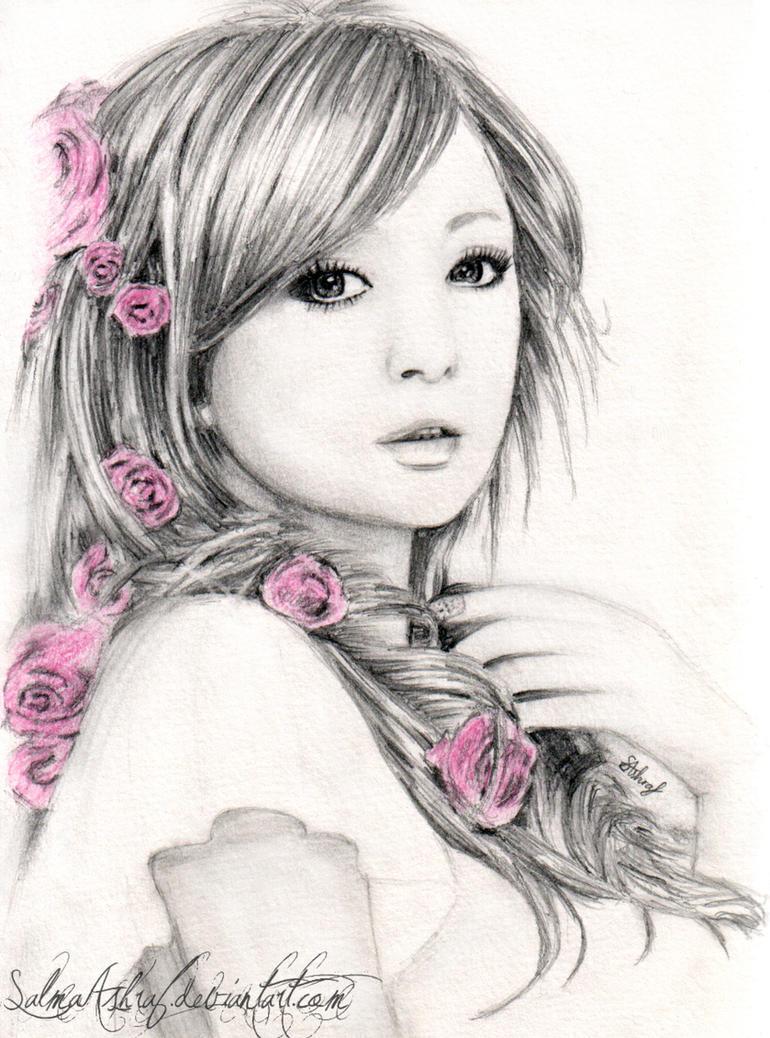 Рисованные девушки картинки