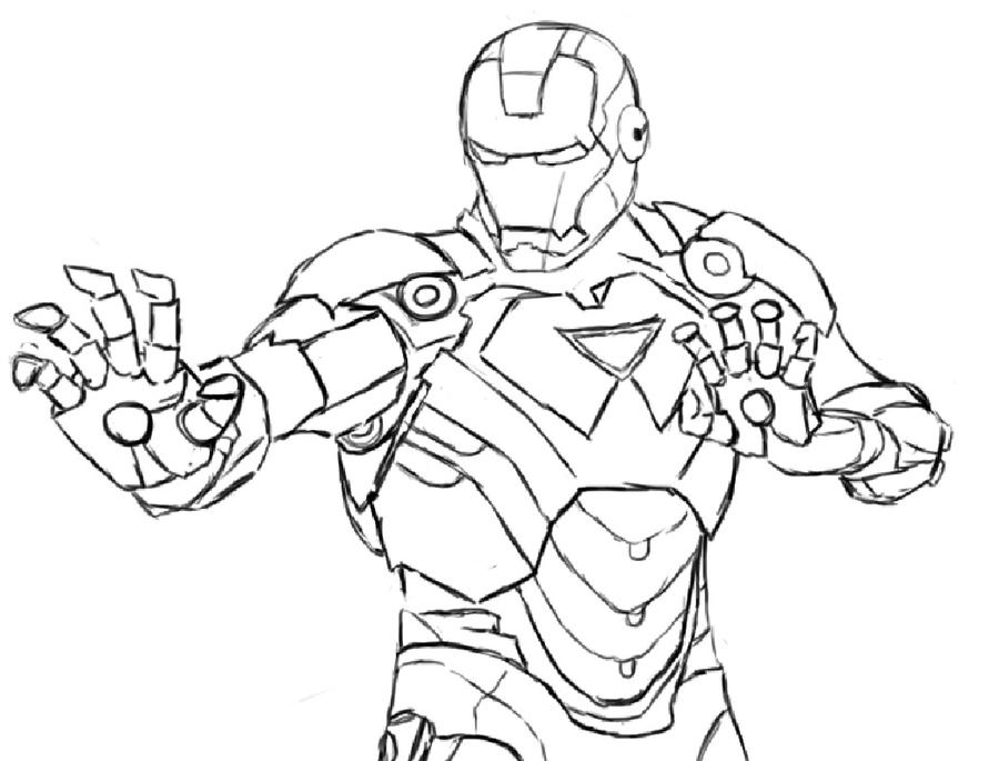 Line Art Man : Line art iron man by ruzukii on deviantart