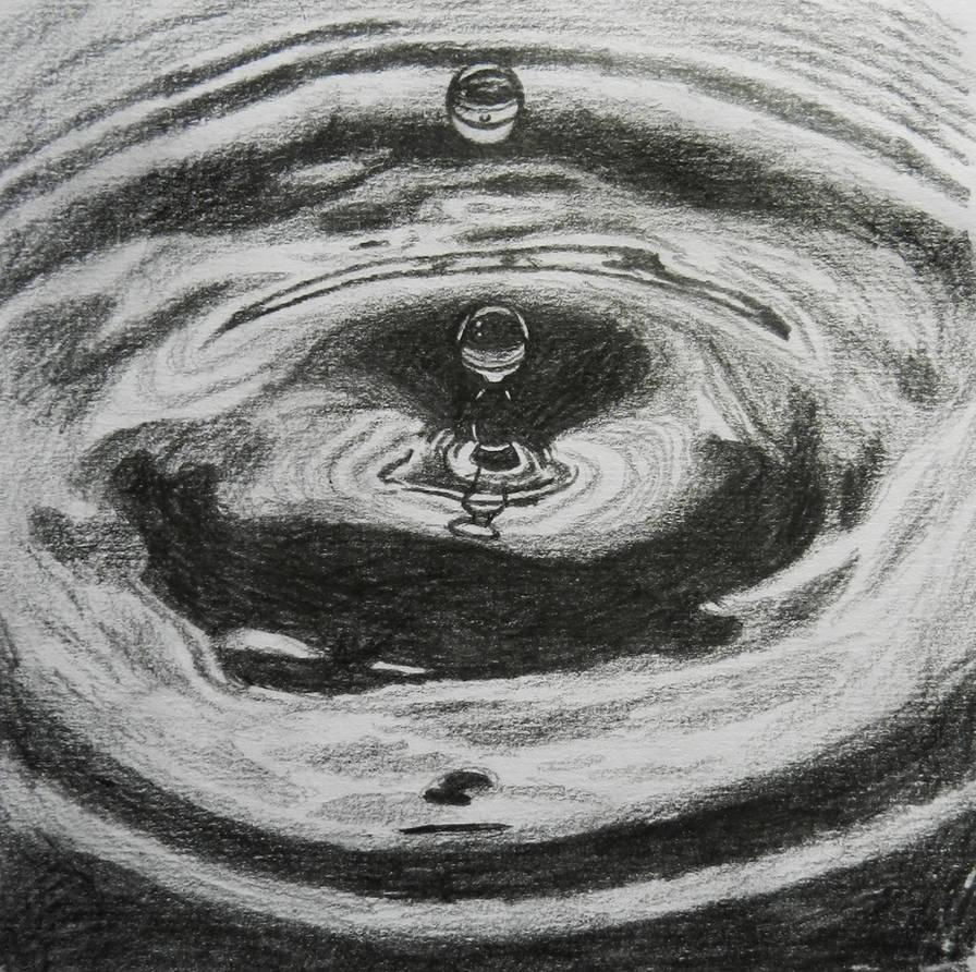 Drop in water pencil sketch by doodle103