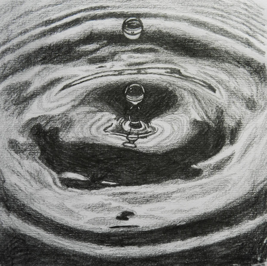 Drop in Water pencil sketch by doodle103 on DeviantArt