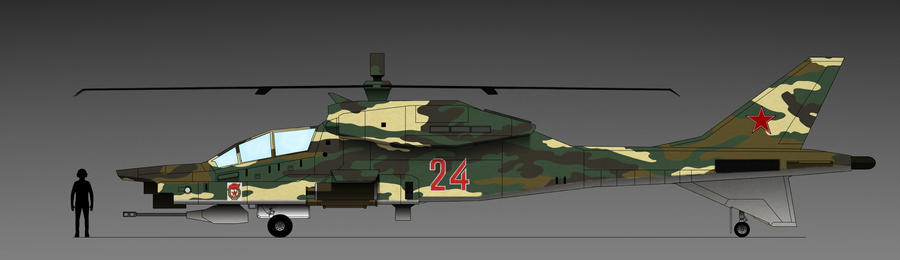 Mi-320 Hitter Russian Space Federation Red 24 by EricJ562
