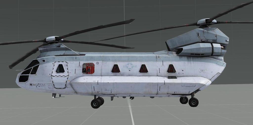 USMC CH-67 Side View by EricJ562