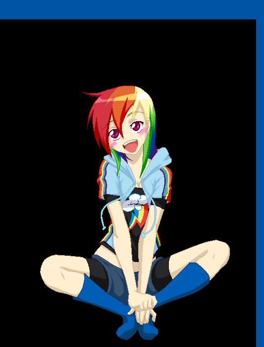 Rainbow dash human anime boy