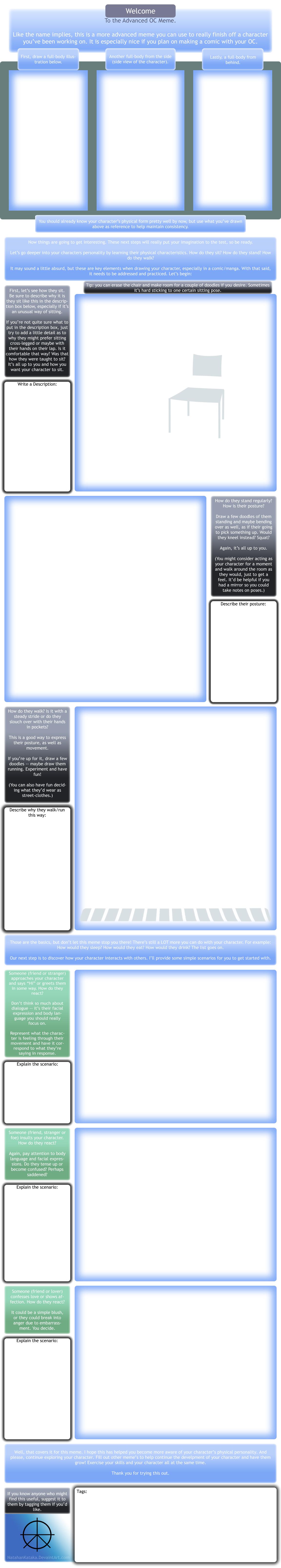Advanced OC Meme - Blank by NatahanStudios