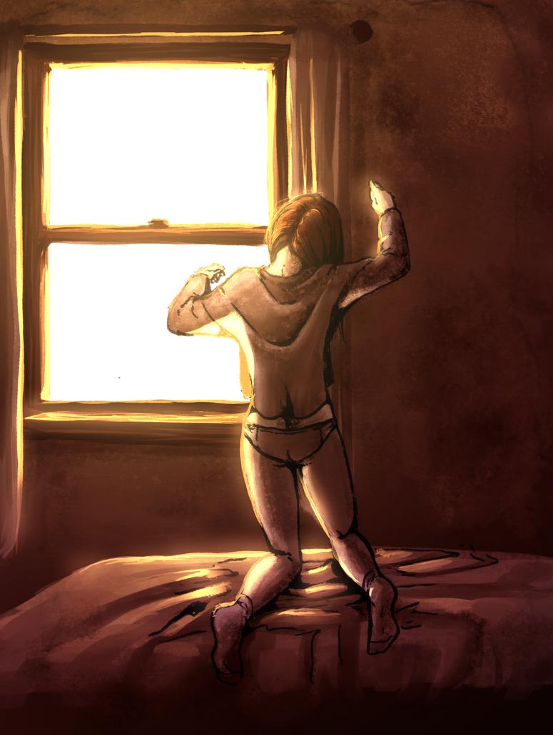 Morning Girl by NatahanKataka