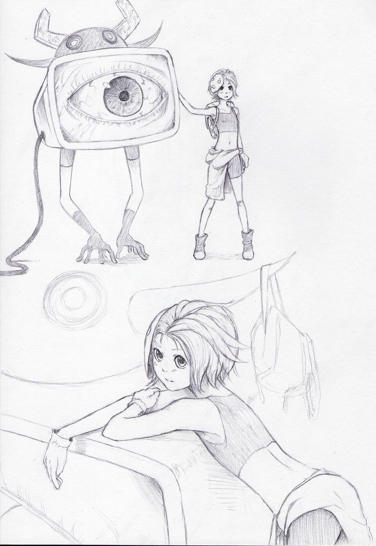 TV Monster Thing by NatahanKataka