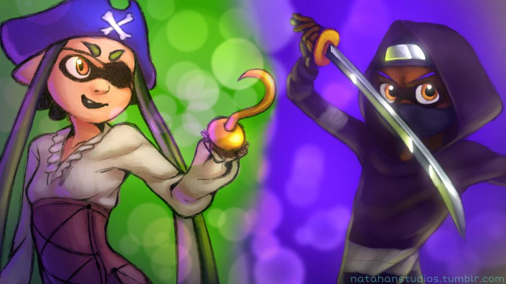 Pirates vs Ninjas! by NatahanKataka