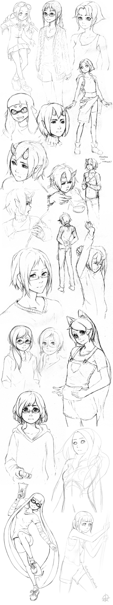 Sketch Dump 14 by NatahanStudios
