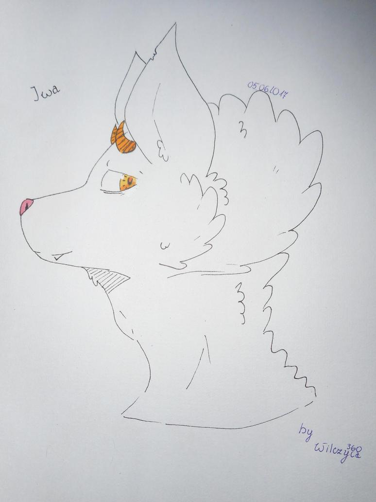 Iwa Oc wolf demon by Wilczyca360