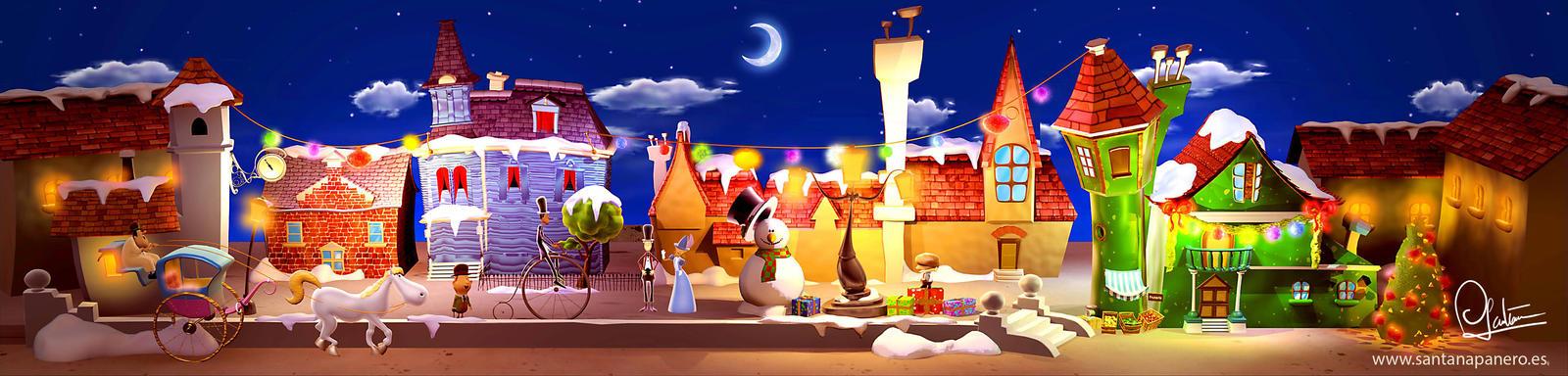 Charles Dickens Christmas Street by TrasnoLume