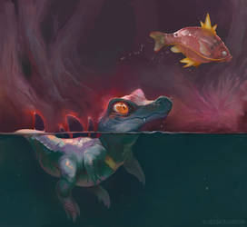 Totodile by Servaline