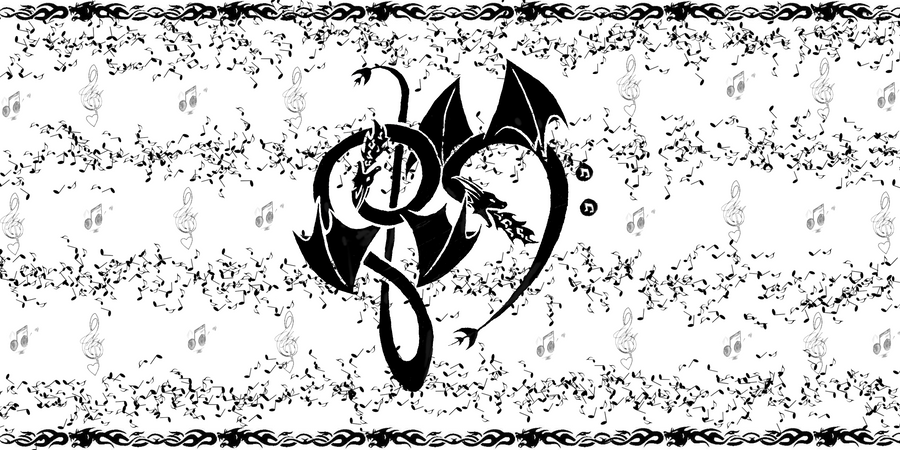 Music Love Dragons Wallpaper By GuardianKrayla