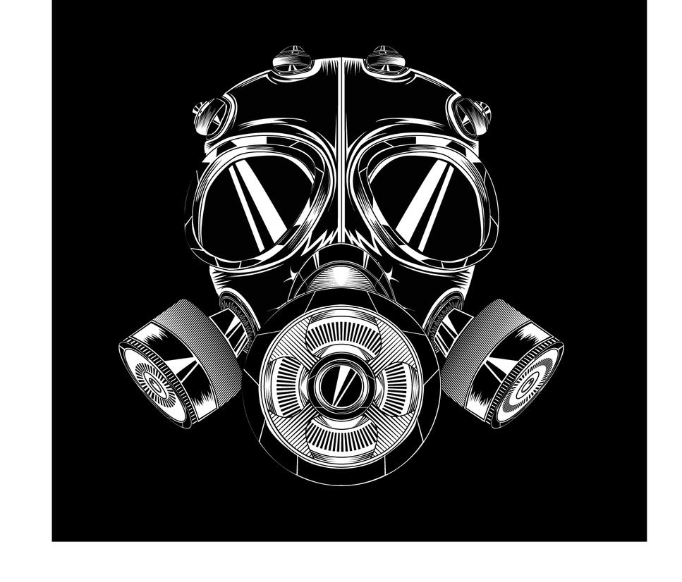 gas mask vector by cestericalGas Mask Silhouette Vector
