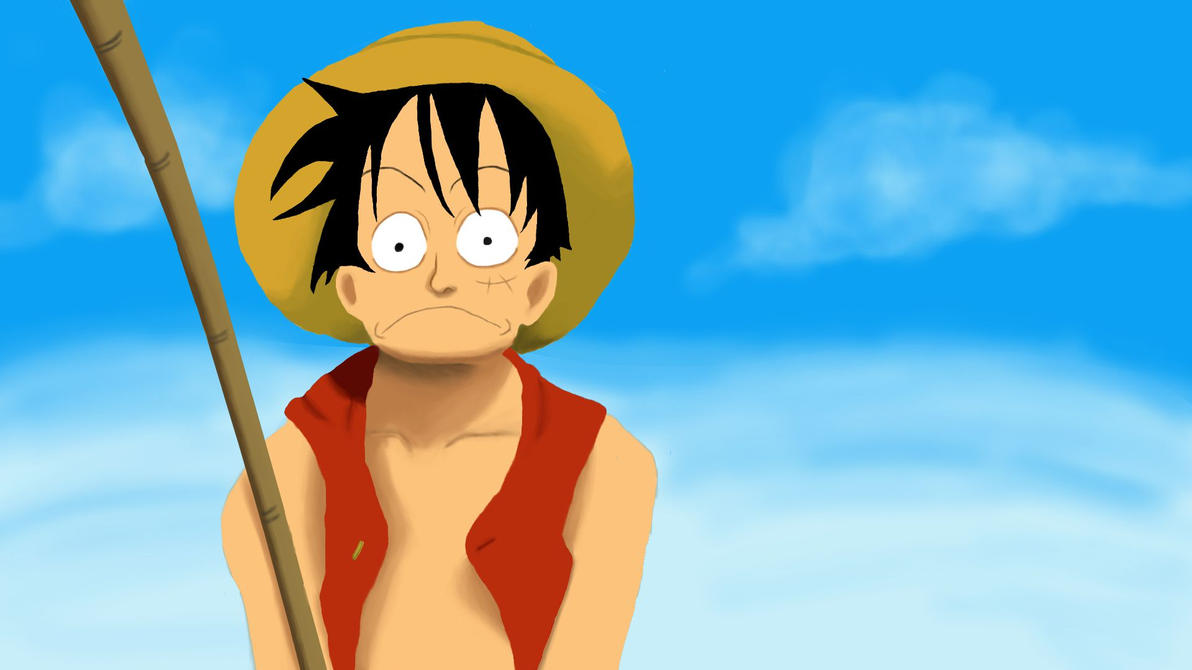 Monkey D. Luffy Digital Painting by cesterical