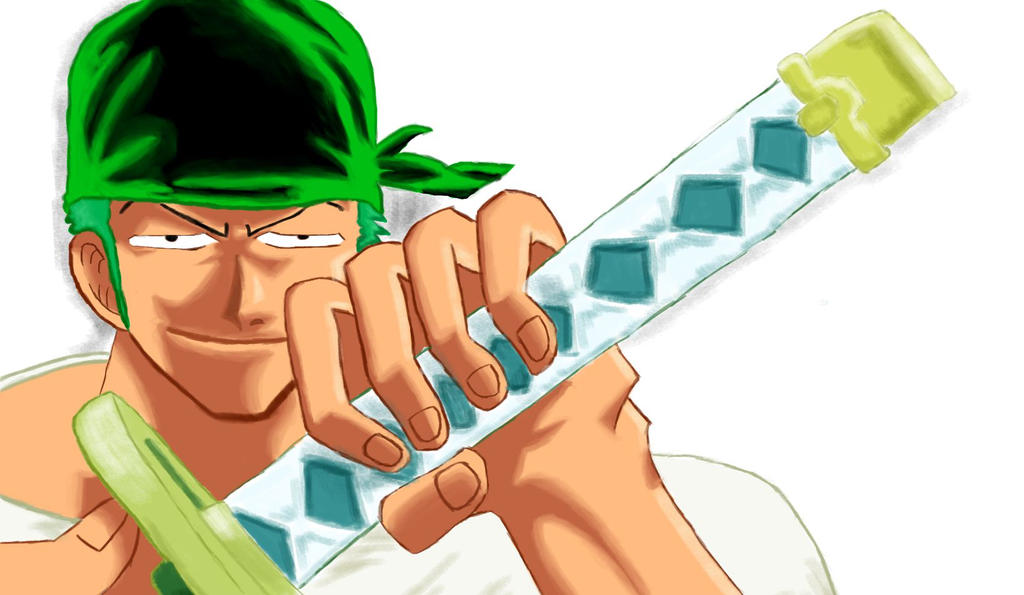 Roronoa Zoro digital painting by cesterical