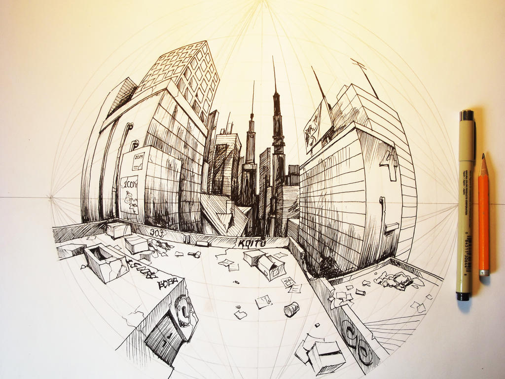5 Point Perspective Study