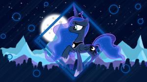Mountains Night (Princess Luna Wallpaper)